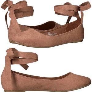 Madden Girl Suri Ballet Flats Ankle Wrap Strap 7